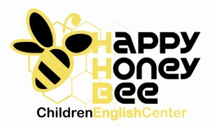 logo happy honey bee